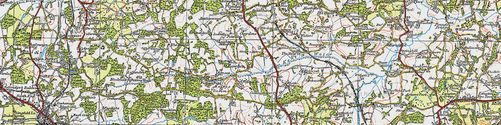 Old map of Cowden in 1920