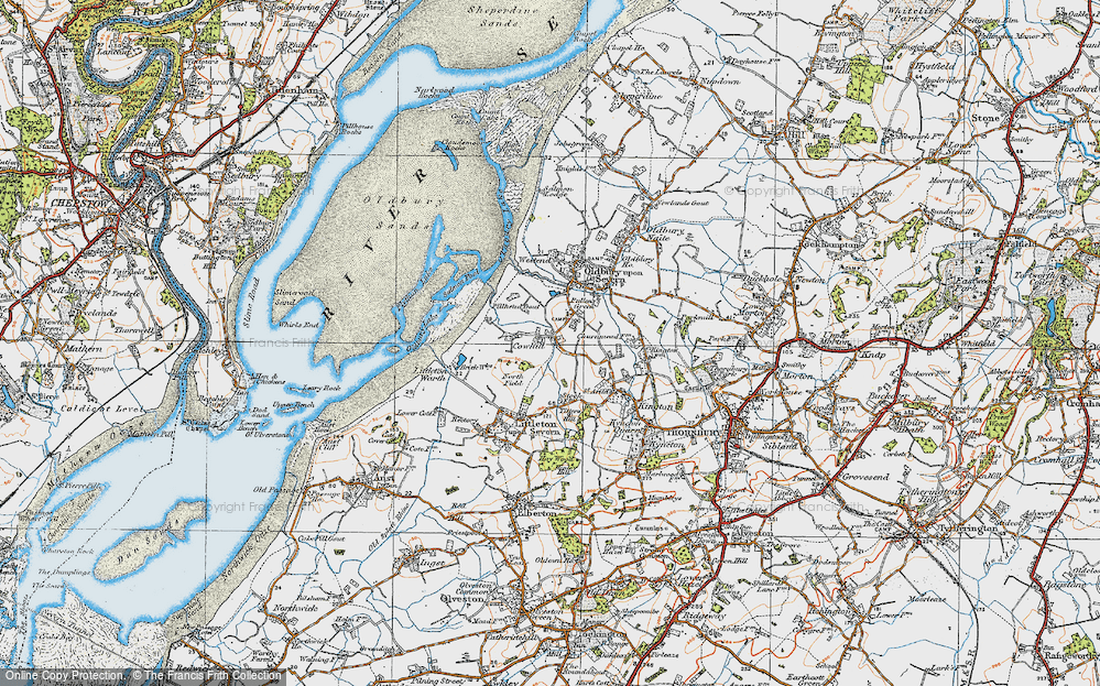 Old Map of Historic Map covering Titters Hill in 1919