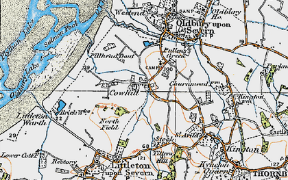 Old map of Titters Hill in 1919