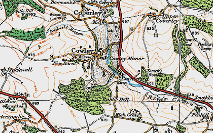 Old map of Cowley in 1919