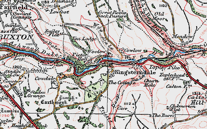 Old map of Woolow in 1923