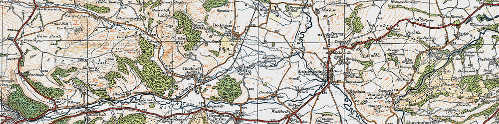 Old map of Adley Moor in 1920