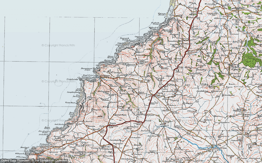 Old Map of Historic Map covering Whitemoor in 1919