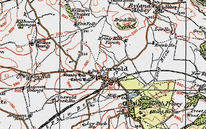 Old map of Coxwold in 1925
