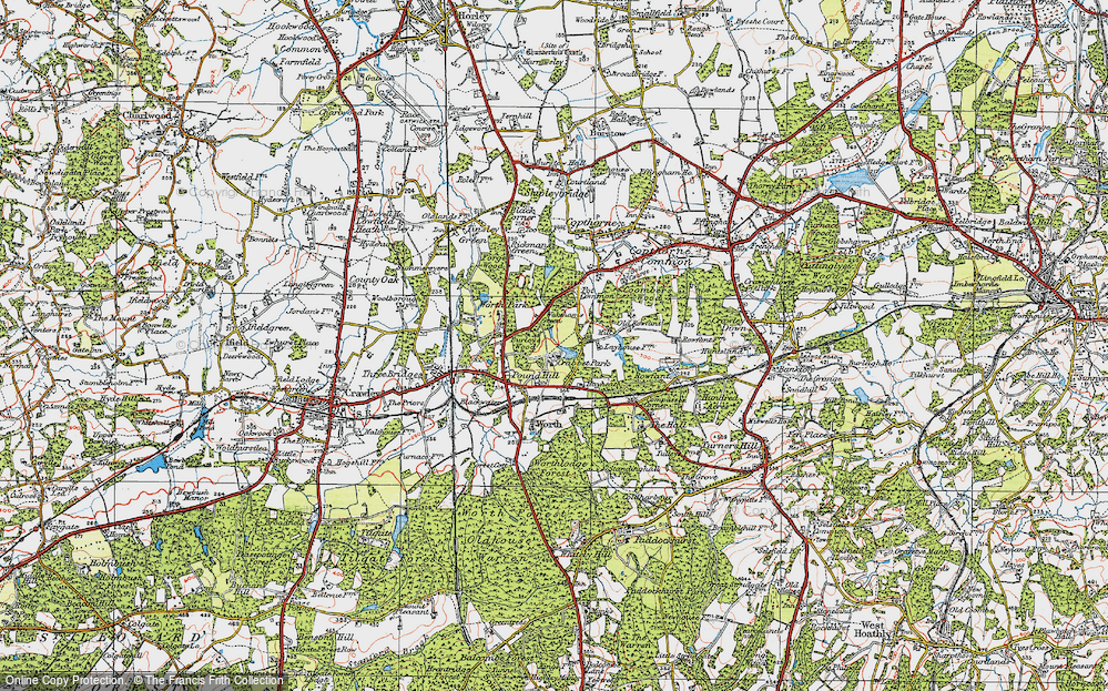 Old Map of Historic Map covering Ley House in 1920