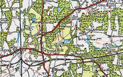 Old map of Ley House in 1920
