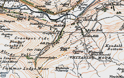 Old map of Aberdene Tarn in 1925