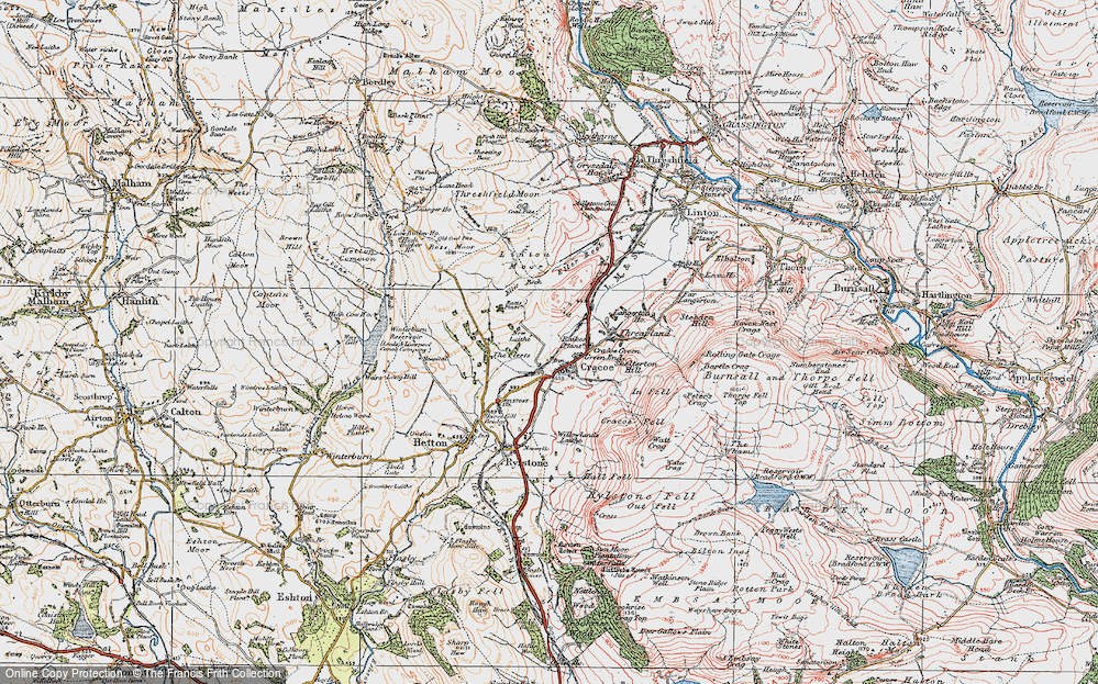 Old Map of Cracoe, 1925 in 1925