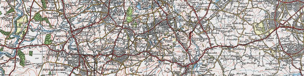 Old map of Cradley Heath in 1921