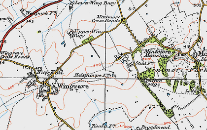 Old map of Crafton in 1919