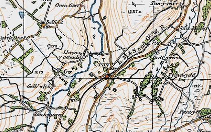 Old map of Fforest Fach in 1923