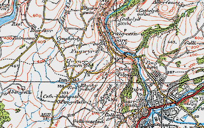Old map of Craig-cefn-parc in 1923