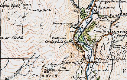 Old map of Craig-y-nos in 1923