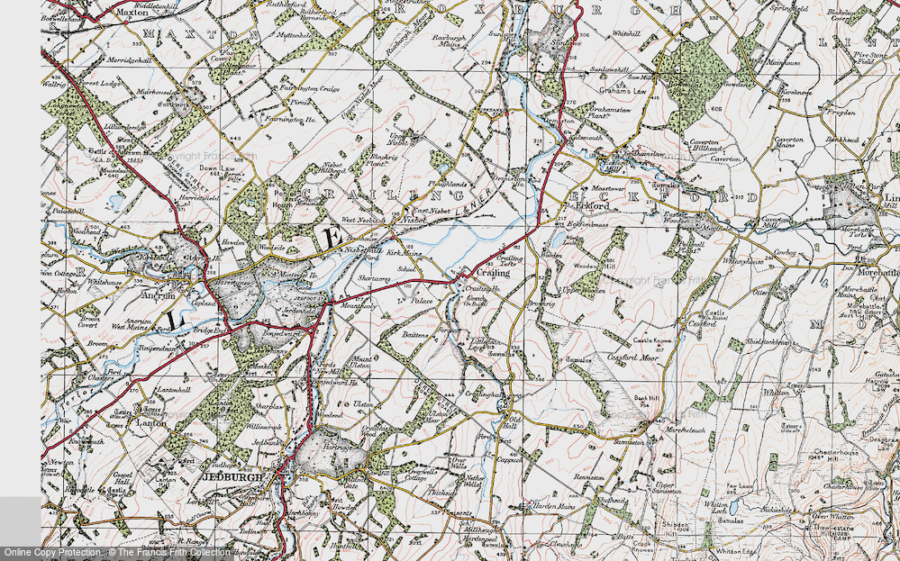 Old Map of Historic Map covering Baittens in 1926