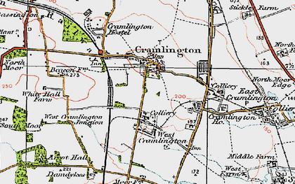 Old map of Cramlington in 1925