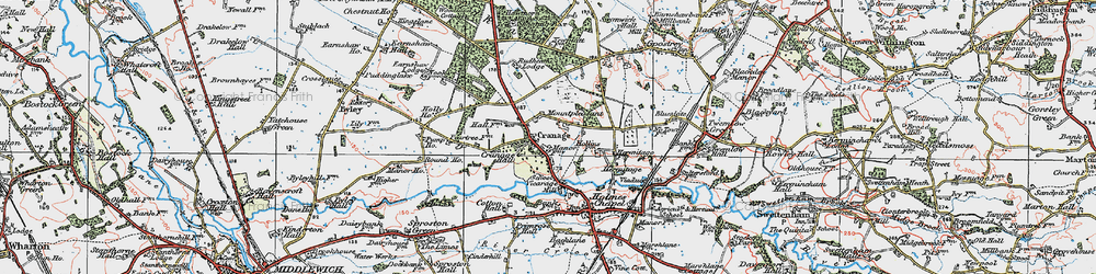 Old map of Cranage in 1923