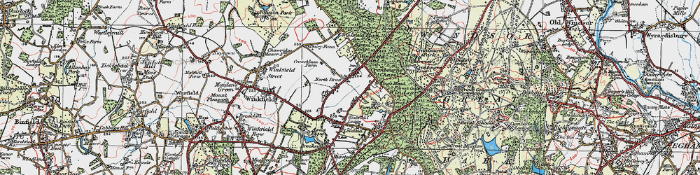 Old map of Winkfield Lodge in 1920