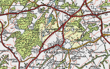 Old map of Angley Ho in 1921
