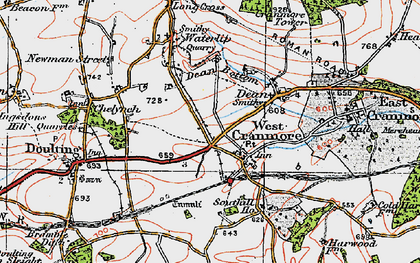 Old map of Cranmore in 1919
