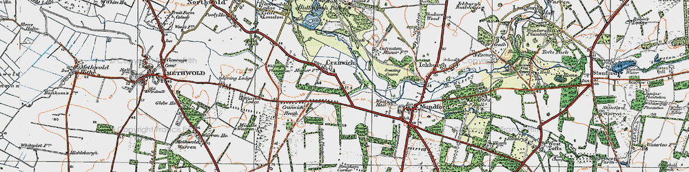 Old map of Cranwich in 1921