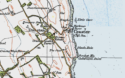 Old map of Craster in 1926