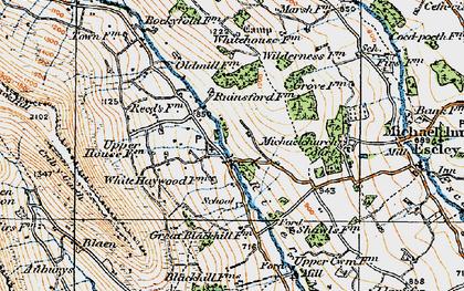 Old map of Auburys in 1919