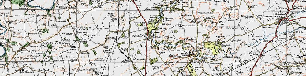 Old map of Crathorne in 1925