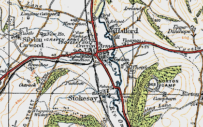 Old map of Craven Arms in 1920