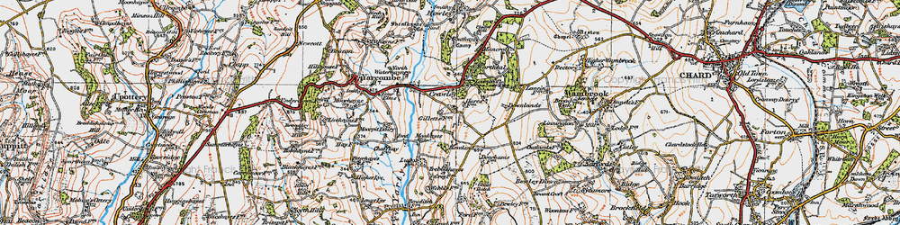 Old map of Wildway Ho in 1919
