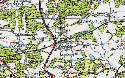 Old map of Crawley Down in 1920