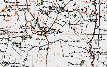 Old map of Crayke in 1924