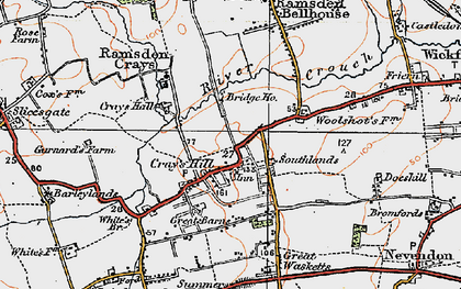 Old map of Crays Hill in 1921