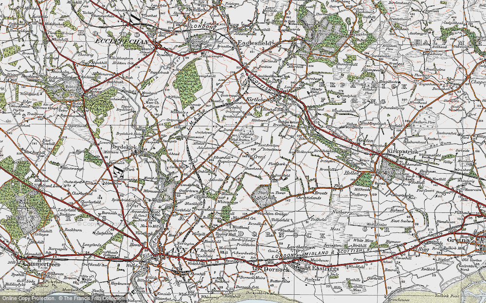 Old Map of Historic Map covering Allalea in 1925