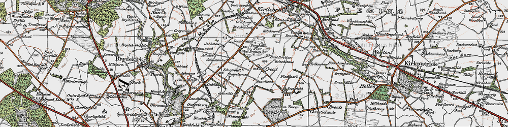 Old map of Windyknowe in 1925