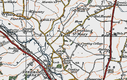 Old map of Woolney Hall in 1921