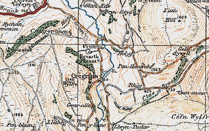 Old map of Wylfre in 1919