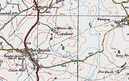 Old map of Creslow in 1919