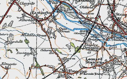 Old map of Cress Green in 1919