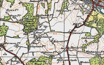 Old map of Cressex in 1919
