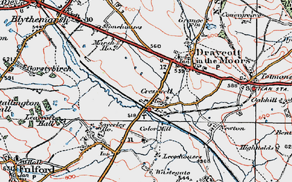 Old map of Leacroft Hall in 1921
