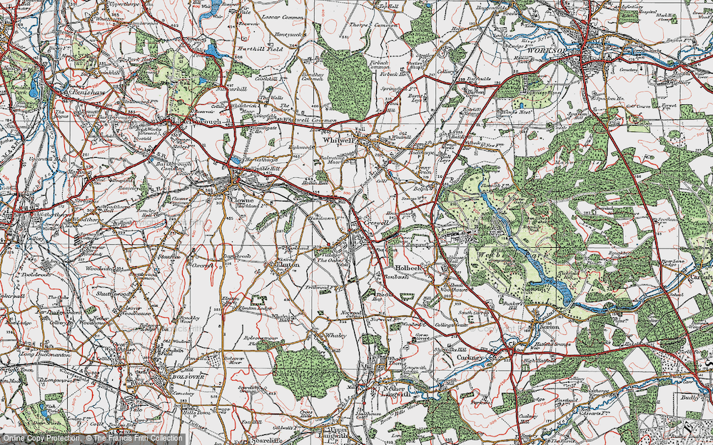 Old Map of Creswell, 1923 in 1923