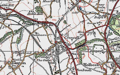 Old map of Creswell in 1923
