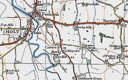 Old map of Wetreins Green in 1921