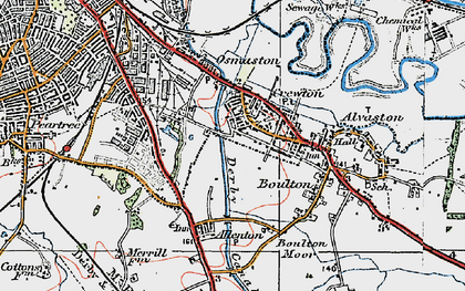 Old map of Crewton in 1921
