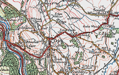 Old map of Crich in 1923