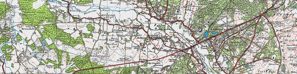 Old map of Yateley Common in 1919