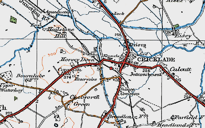 Old map of Cricklade in 1919