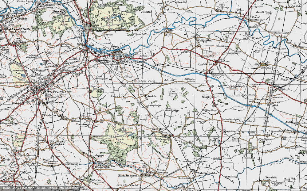 Old Map of Historic Map covering Aire and Calder Navigation (Knottingley and Goole Canal) in 1924
