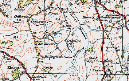 Old map of Worsley Trail in 1919