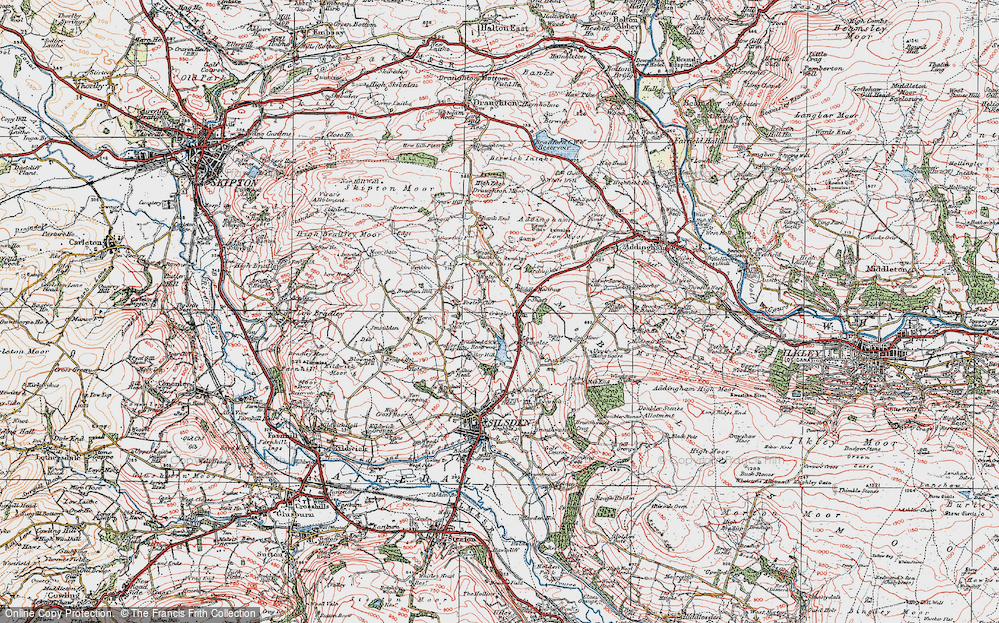 Old Map of Historic Map covering Bank End in 1925